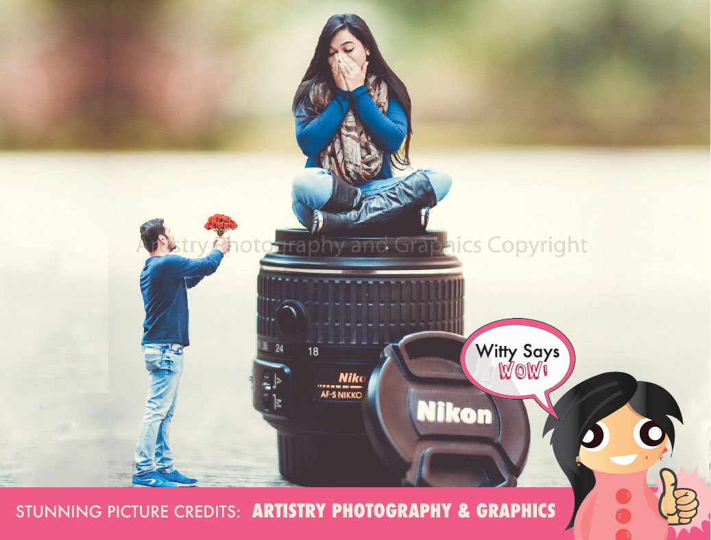 Witty Says Wow Miniature Pre Wedding Shoot Idea For Indian Wedding