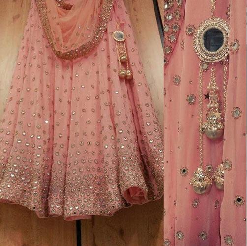 Day Wedding Lehenga Style Pastel Light Pink Lehenga With