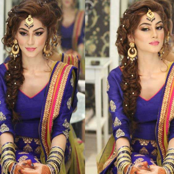 Braid Hairstyles For Wedding Party: Indian Wedding Hairstyles For Indian Brides- Up Dos