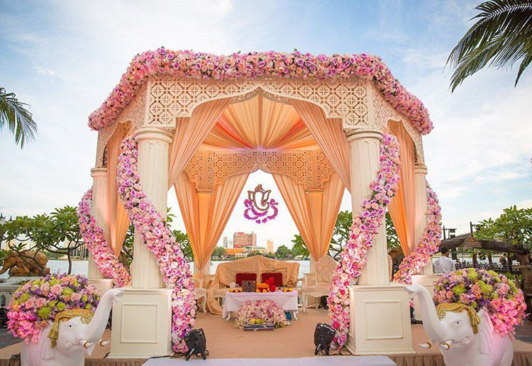 stunning indian wedding mandap decor ideas to say i do under. Black Bedroom Furniture Sets. Home Design Ideas