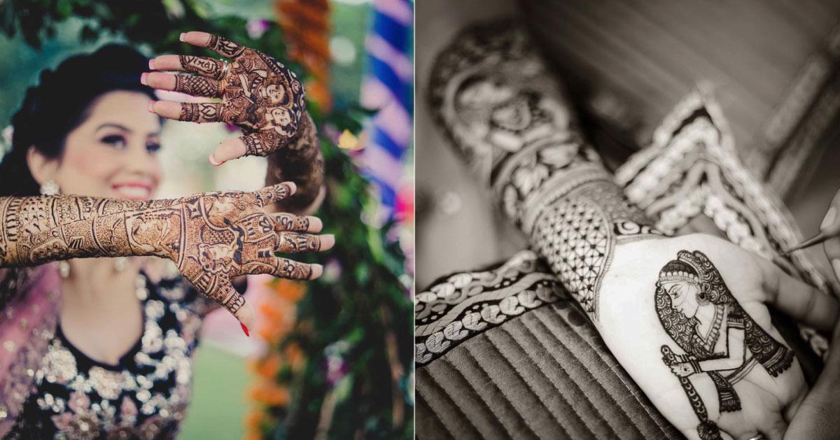Mehndi Hand Name : Morvi cover mehndi name ideas witty vows